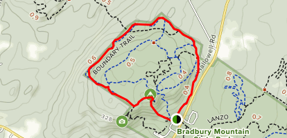 Bradbury Mountain Park Boundary Trail Map