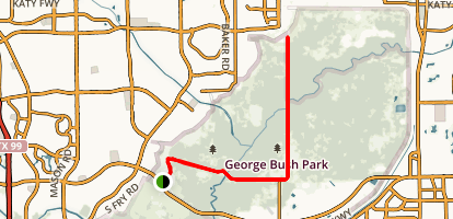 George Bush Hike and Bike Trail Map