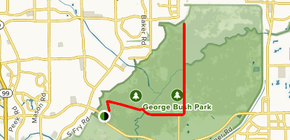 George Bush Park Map George Bush Hike and Bike Trail   Texas | AllTrails