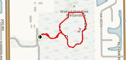 Wakodahatchee Wetlands Map