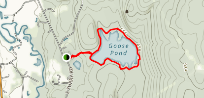 Goose Pond Loop Map
