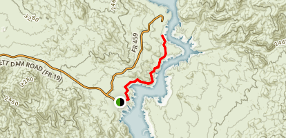 Bartlett Reservoir Map