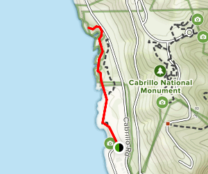 Point Loma Tidepools and Bluffs Trail Map