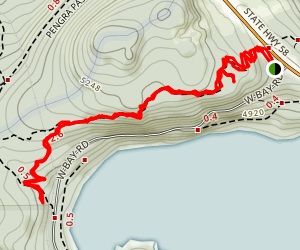 Eagle Rock and Above West Bay Map