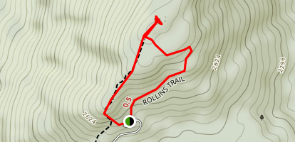 Rollins Trail to Mount Kearsarge Map