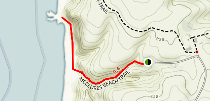 Mcclures Beach Trail Map