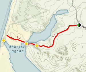 Abbotts Lagoon Trail Map