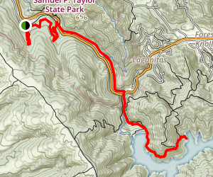 Cross Marin Trail to Kent Lake Map