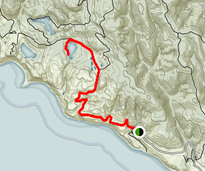 Coast Trail to Bass Lake Map