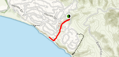 Pinnacle Gulch Coastal Access Map