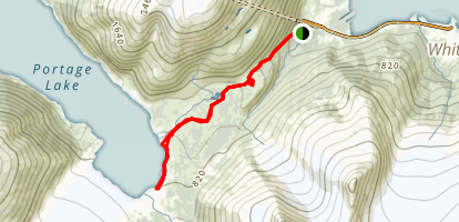 Portage Pass Trail Map