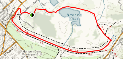 Hansen Dam Bike Path Trail Map