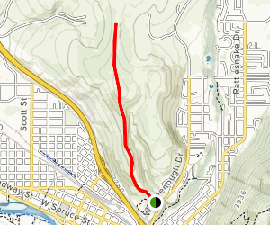 Waterworks Hill to Peace Sign Trail Map