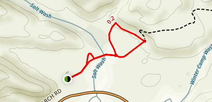 Wolfe Ranch and Petroglyph Trail Map
