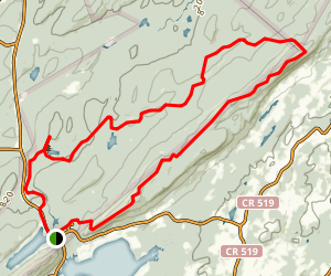 Stokes Select Trail via Appalachian Trail Map