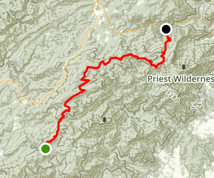 Appalachian Trail: Hog Camp Gap to Crabtree Falls Map