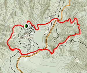 Rose River Trail to Lewis Falls Trail Loop Map