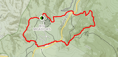 Rose River Trail to Lewis Falls Trail and Appalachian Trail Map