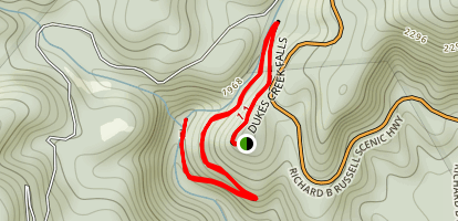 Dukes Creek Trail Map