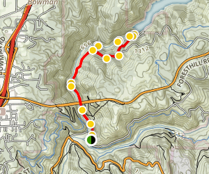 Clementine Trail to Clark's Pool Map