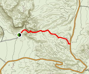 Burro Mesa Pouroff Trail Map