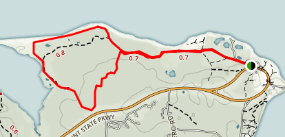 Montauk Point Park Trail Map