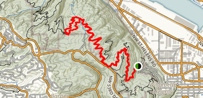 Southern Forest Park Loop Trail Map