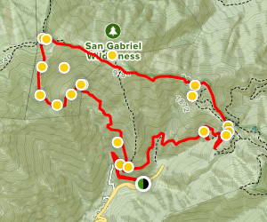 Mount San Antonio & Mount Baldy Notch Trail Map