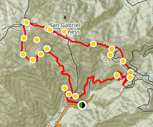 Mt. San Antonio & Mt. Baldy Notch Trail Map