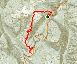 Pass Trail to Engineer Mountain Trail Map