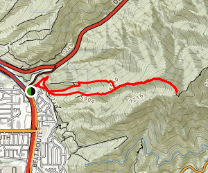 Grandeur Peak Trail (West Face) Map