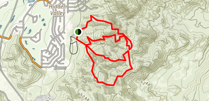 Hidden Valley County Park Trail Map