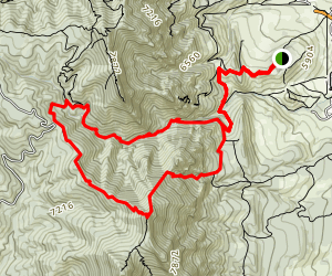 Bear Peak Canyon Loop Trail Map