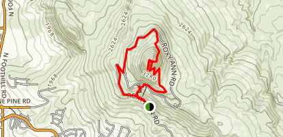 Roxy Ann Peak Trail Map