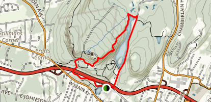 Castle Craig and West Peak Trail Map