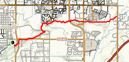 Coal Creek Trail - Louisville to Lafayette Map