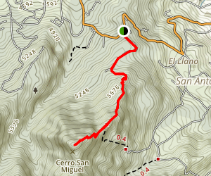 Tres Cruces - Escazu Trail Map