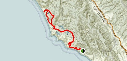 Coast Trail to Wildcat Camp Map