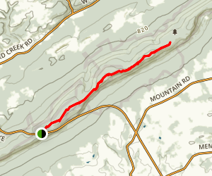Bear Rocks via Appalachian Trail Map