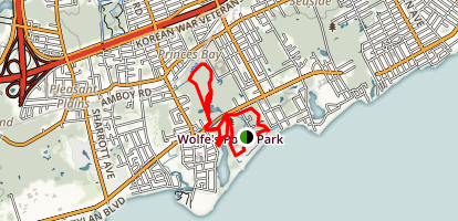 Wolfes Pond Park Trial Map