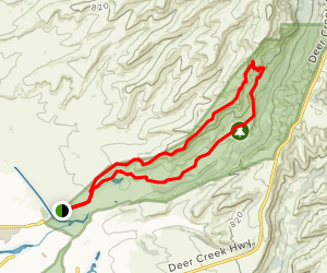Upper Bidwell Trail Map