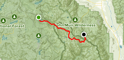 Florence Lake to Long Lake Trail Map