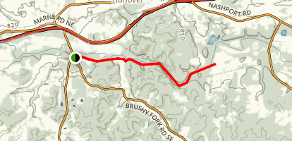 Blackhand Gorge Trail Map