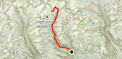 Tungsten Lake Trail Map