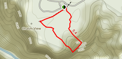 Chasm View Nature Trail Map