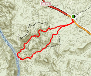 Arizona (Ringbolt) Hot Springs Trail [CLOSED] Map