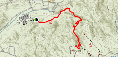 Holbert Trail to Dobbins Lookout Map