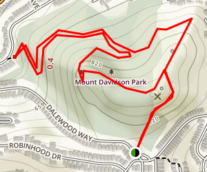 Mount Davidson Trail Map