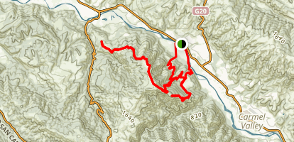 Snivley's Ridge Trail Map