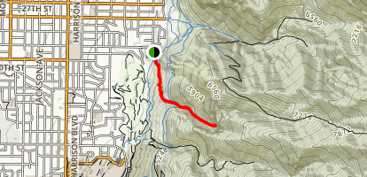 Waterfall Canyon Trail Map